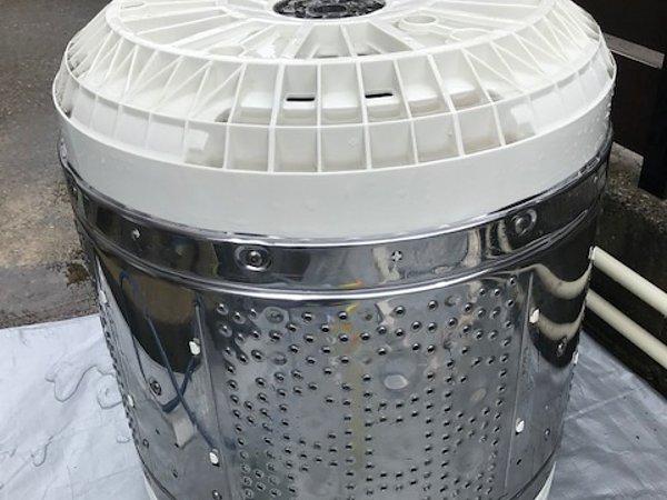 宮崎県宮崎市・縦型洗濯機分解洗浄の画像