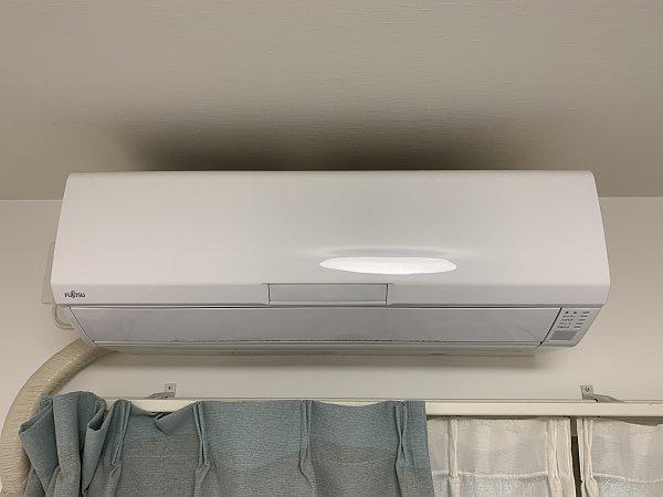 熊本県阿蘇市・I様エアコンクリーニング(富士通AS-R22H-W 2018年製)の画像