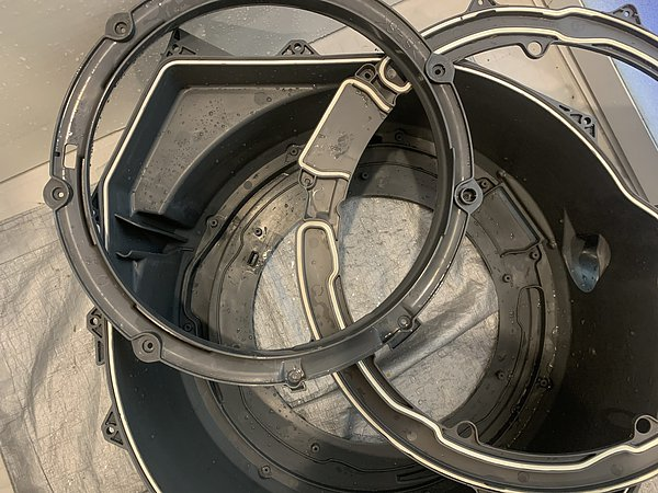 熊本市西区・ドラム式洗濯機分解清掃の画像