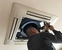 天井埋め込み型エアコン(天カセタイプ)クリーニングサービス開始のイメージ